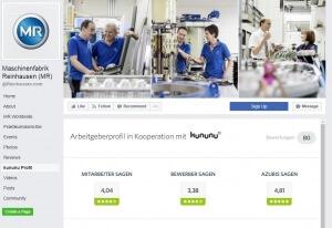 Screenshot Maschinenfabrik Reinhausen Quelle Facebook