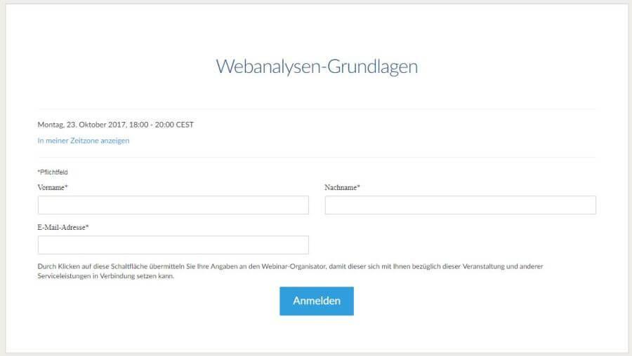 Webinar bei Heise RegioConcept Anmeldung