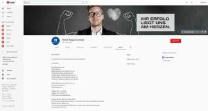 Screenshot Impressum von Heise RegioConcept auf YouTube