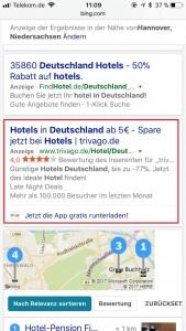 Screenshot App-Anzeigenerweiterungen