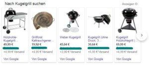 Screenshot Google-Shopping-Anzeigen