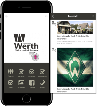 Grabmale Werth App