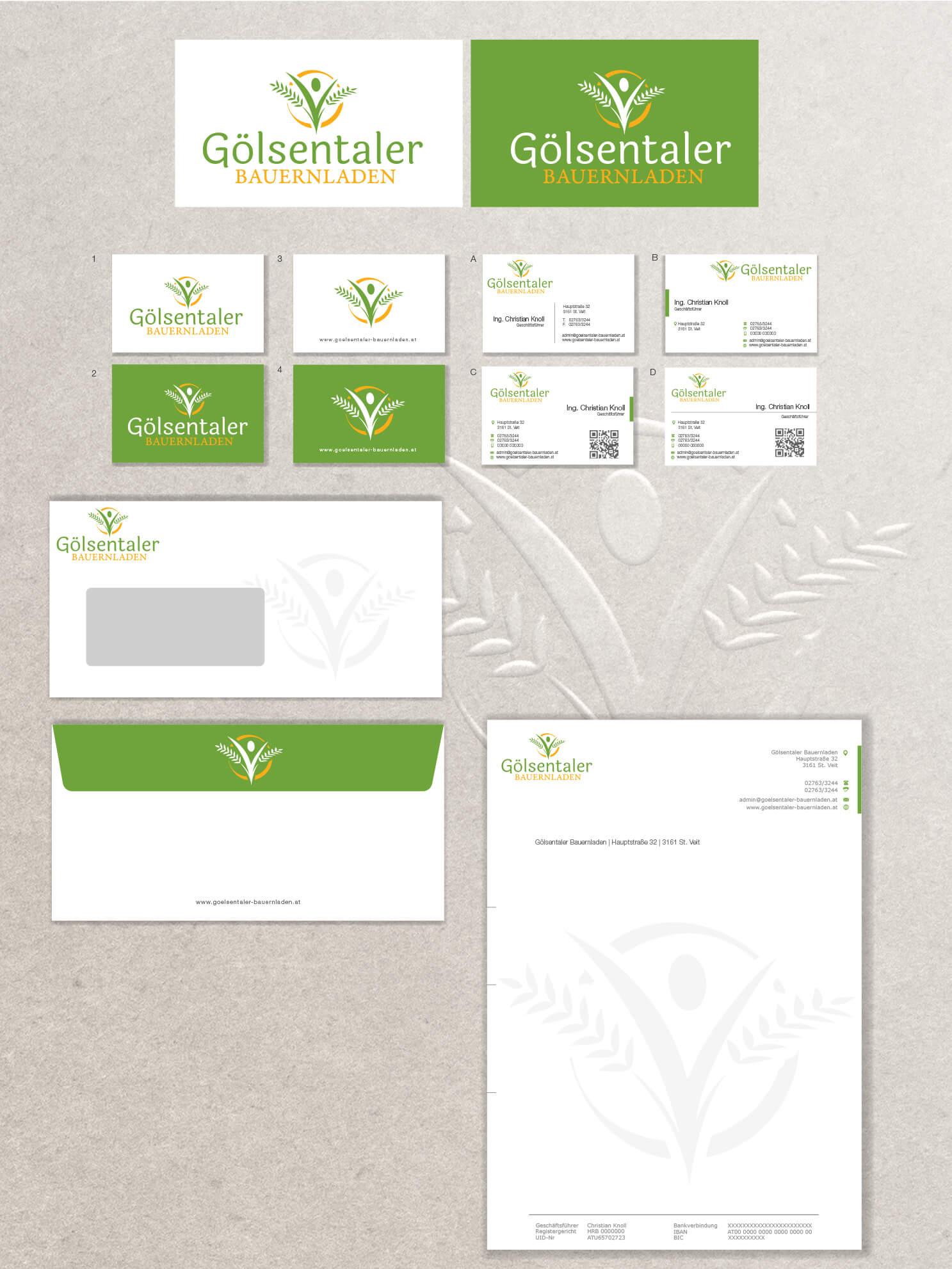 Corporate Design Beispiel Gölsentaler Bauernladen, Bildquelle: designenlassen.de