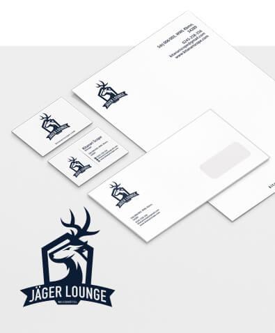 Corporate Design Beispiel Jäger Lounge, Bildquelle: designenlassen.de