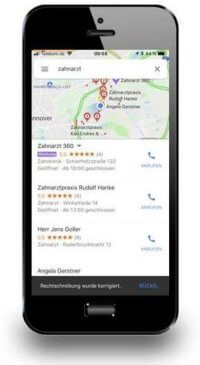 Screenshot 1, lokale Suchnetzwerk-Anzeige