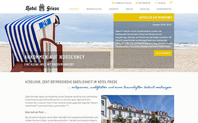 Hotel Friese Homepage