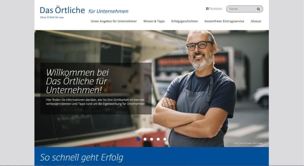 Screenshot Das Örtliche für Unternehmen