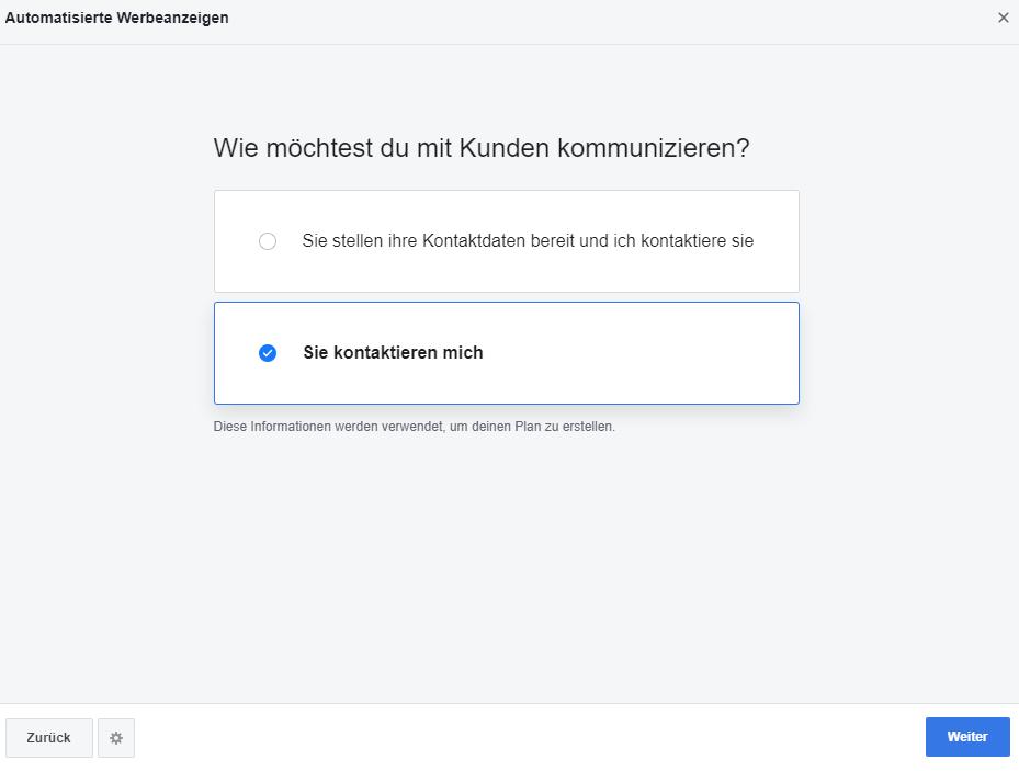 Automatisierte Facebook-Anzeigen