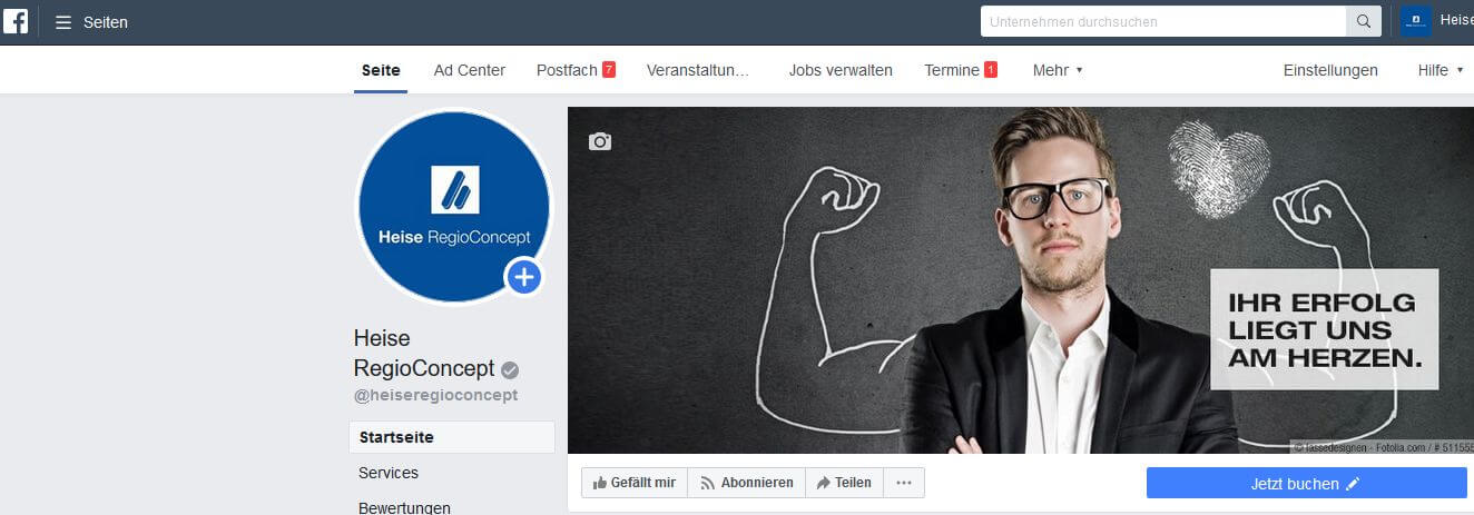 Facebook Terminbuchung Call-to-Action