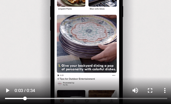 Pinterest Promoted Video Pin