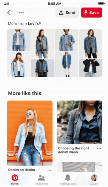 Pinterest Shop by Brand