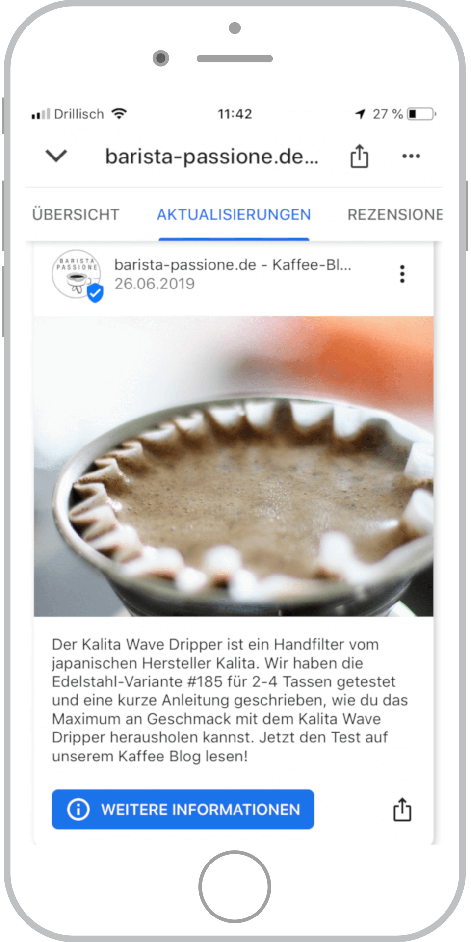 Referenz Barista Passione Google My Business