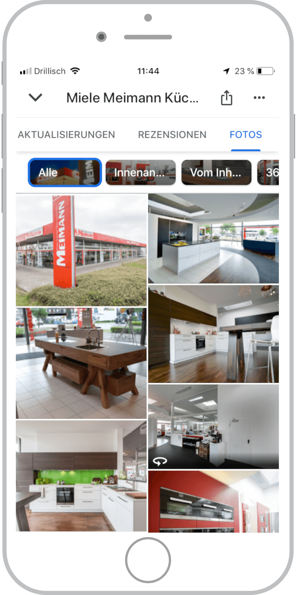 Referenz Miele Google My Business