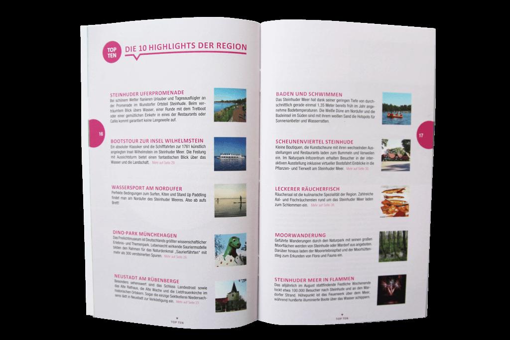 unterwegs. mein Freizeit- und Reiseführer: Top Ten für die Region Steinhuder Meer