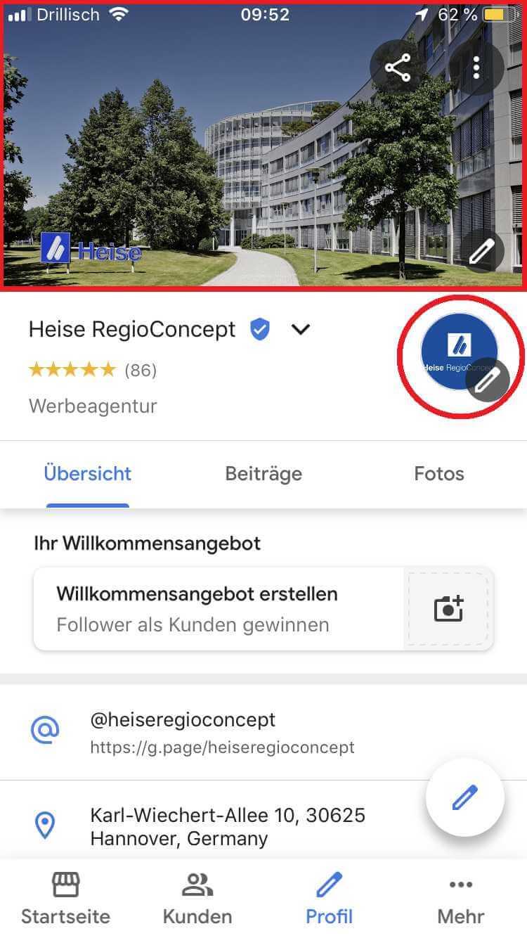 Logo und Titelbild, Quelle: Screenshot Google My Business