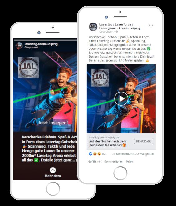 Online-Marketing-Agentur Hannover Beispielanzeige Instagram