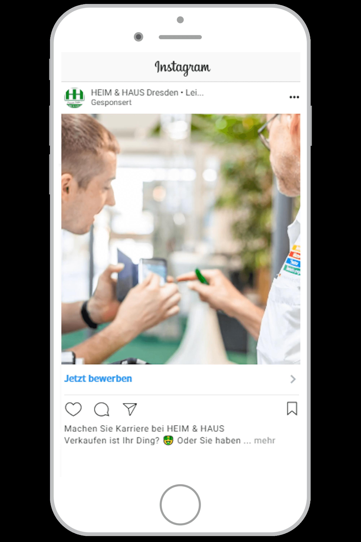 Social-Media-Agentur Hamburg Instagram Feed Anzeige