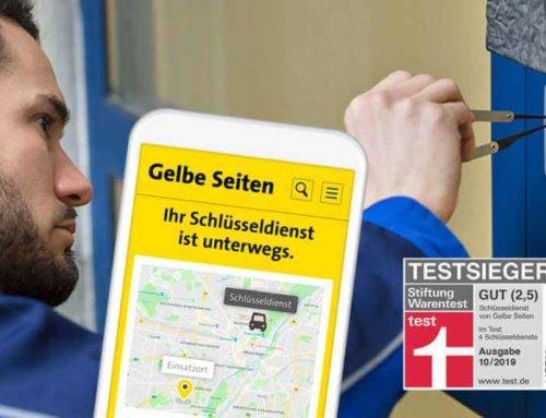 Schlüsseldienst-Service von Gelbe Seiten ist Testsieger