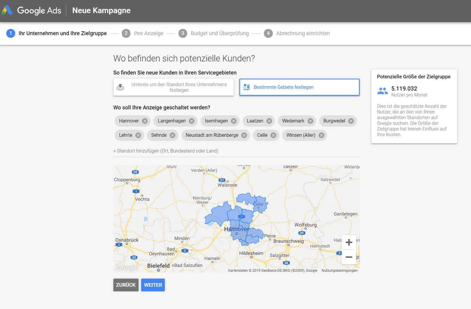 Smart Campaign, Regionen