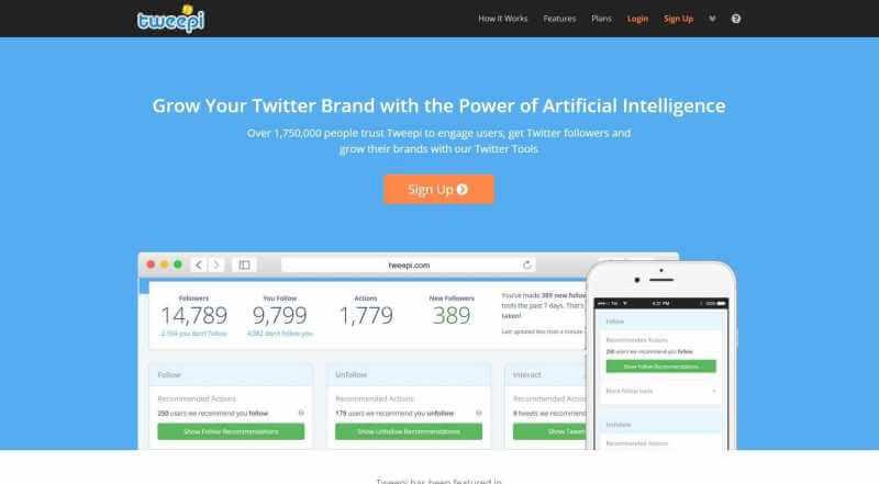 Ferramentas de mídia social Tweepi