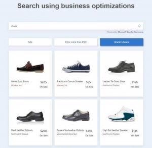 Bing for Commerce mit Geschäftsoptimierung