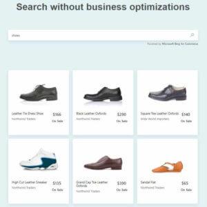 Bing for Commerce ohne Geschäftsoptimierung