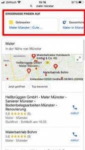 Google Suche Maler Münster