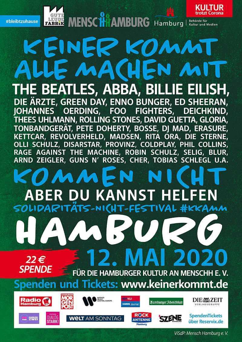 """Werbeplakat für das Festival """"Keiner kommt, alle machen mit"""", Bildquelle: MenscHHamburg e.V."""
