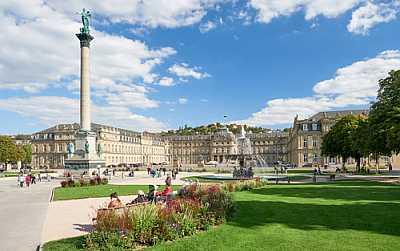Bild vom Schloßplatz in Stuttgart