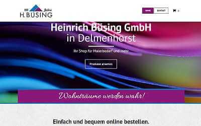 Online-Shop Referenz Heinrich Büsing