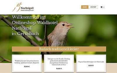 Online-Shop Referenz Waldhotel Nachtigall