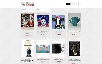 Online-Shop-Referenz Atelier Jörg Simon