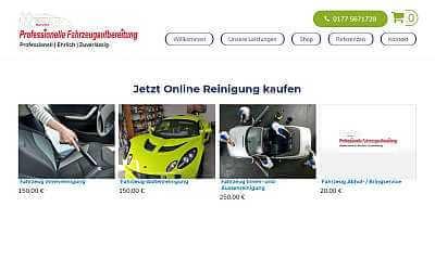 Online-Shop-Referenz Fahrzeugpflege Wiesbaden