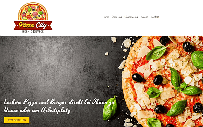 Heise Homepage Basic Pizza City