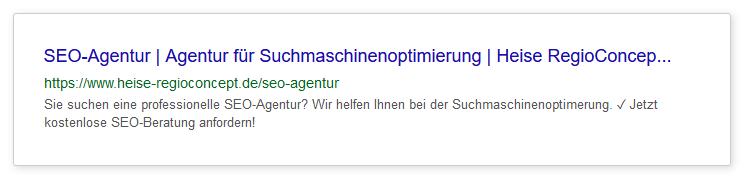 Zur Grundoptimierung einer Website gehört eine sprechende URL.