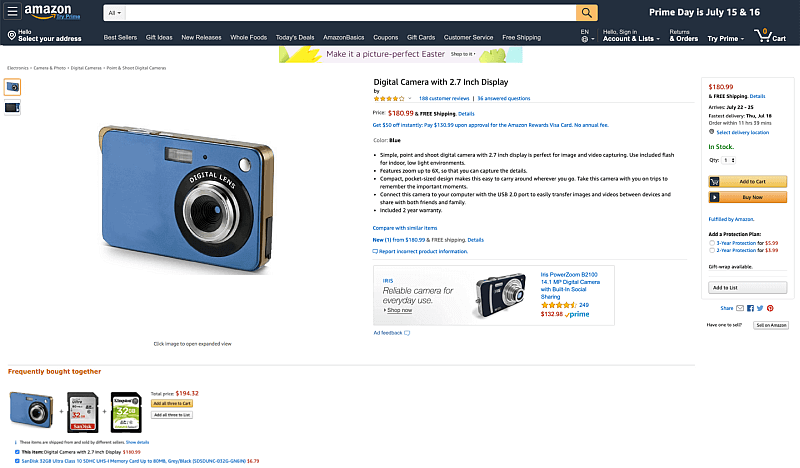 Amazon Werbung Beispiel Sponsored Display