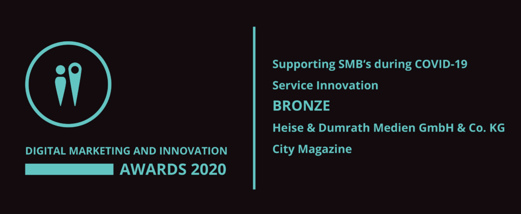 Digital Marketing and Innovation Awards 2020 Bronze