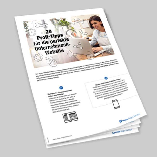 Vorschaubild 20 Tipps für die perfekte Unternehmenswebsite
