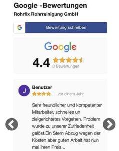 Bewertungswidget mobile Ansicht