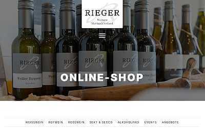 Online-Shop Referenz Weingut Rieger