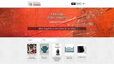 Online-Shop Referenz Atelier Jörg Simon