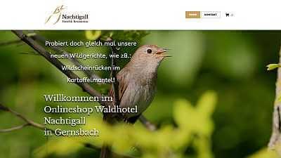 Online-Shop Referenz Hotel und Restaurant Nachtigall