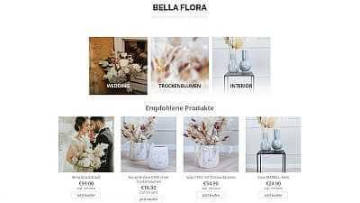 Online-Shop Referenz Bella Flora