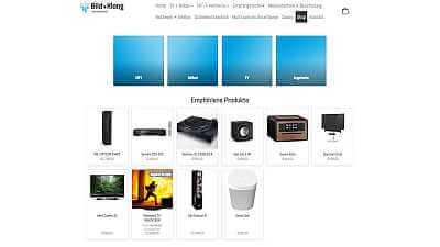 Online-Shop Referenz Bild + Klang