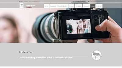 Online-Shop Referenz Foto-Studio Schäefer