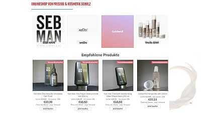 Online-Shop Referenz Friseur Scholz